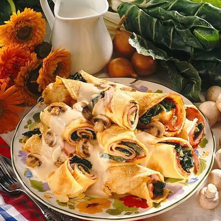 Pfannkuchen mit Mangoldfüllung Rezept