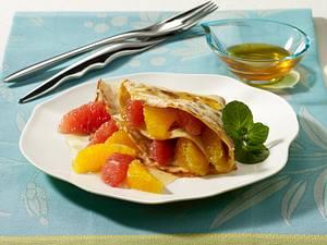 Pfannkuchen mit Zitrusfrüchten Rezept