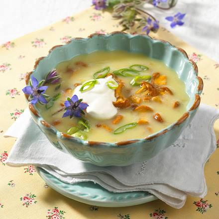 Pfifferling-Kartoffel-Rahmsuppe Rezept