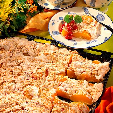 Pfirsich-Baiserkuchen Rezept