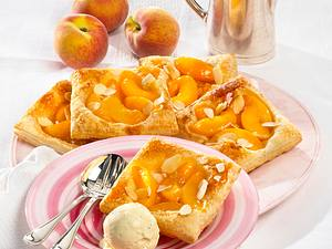 Pfirsich-Blätterteig-Teilchen (Diabetiker) Rezept