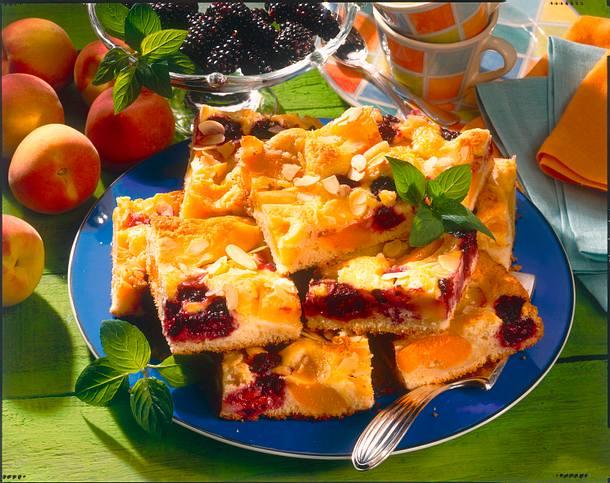 Pfirsich-Brombeer-Kuchen Rezept