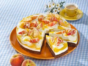 Pfirsich-Buttermilchtorte Rezept