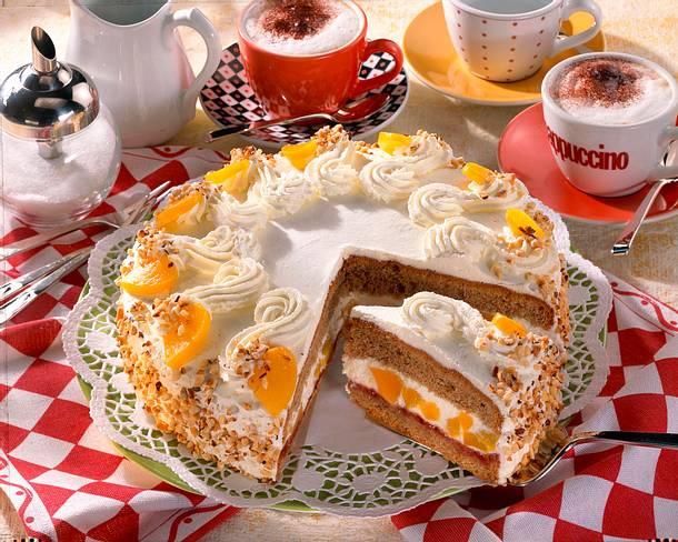 Pfirsich-Cappuccino-Torte Rezept