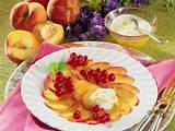 Pfirsich Carpaccio mit Zitronenjoghurt Rezept