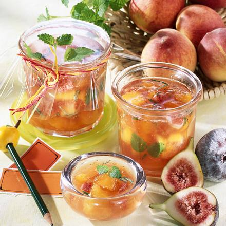 Pfirsich-Feigen-Konfitüre Rezept