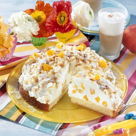 Pfirsich-Flocken-Torte Rezept