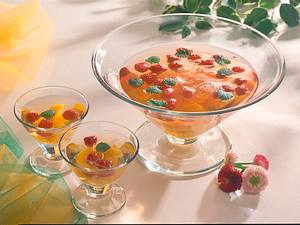 Pfirsich-Himbeer-Bowle Rezept