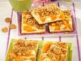 Pfirsich-Käsekuchen mit Amaretti-Streusel Rezept