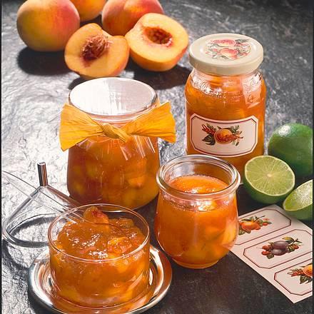 Pfirsich-Limetten-Konfitüre Rezept