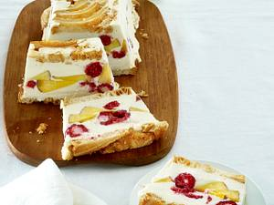 Pfirsich-Melba-Kastenkuchen Rezept
