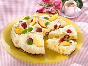 Pfirsich-Melba-Kuchen Rezept