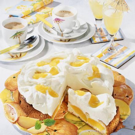 Pfirsich-Prosecco-Torte Rezept