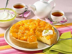 Pfirsich-Pudding-Kuchen Rezept