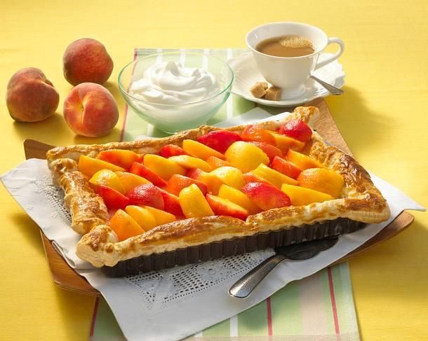 Pfirsich-Puddingkuchen Rezept