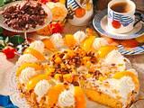 Pfirsich-Schoko-Knusper-Pralinen-Sahne Torte Rezept