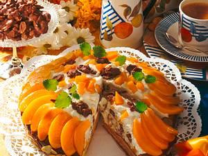 Pfirsich-Schoko-Knusper-Pralinen-Torte Rezept