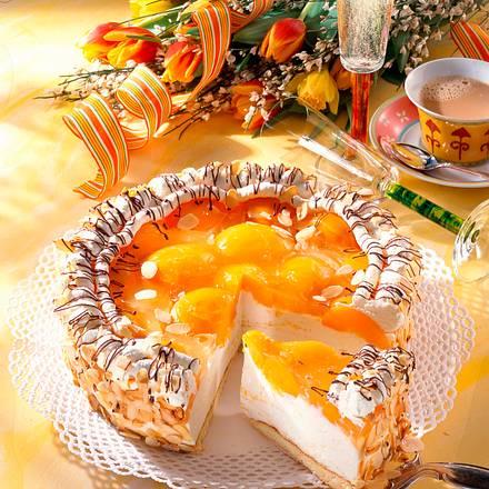Pfirsich-Sekt-Torte Rezept