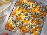 Pfirsich-Stachelbeer-Kuchen Rezept