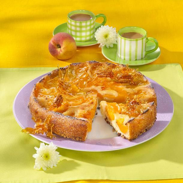 Pfirsiche-Upside-Downkuchen Rezept