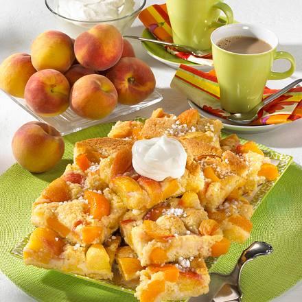 Pfirsichkuchen vom Blech Rezept