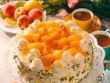 Pfirsichtorte mit Zitronensahne Rezept