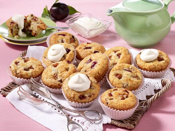 Pflaumen-Muffins mit Schmand Rezept