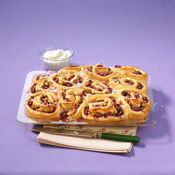 Pflaumen-Rosetten-Kuchen Rezept