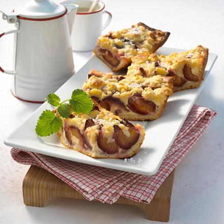 Pflaumen Schmand Kuchen Mit Streuseln Rezept Lecker