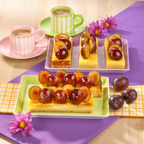 Pflaumen-Shortbread-Kuchen Rezept