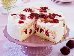 Pflaumen-Torte mit gestrudelter Mascarpone-Creme Rezept