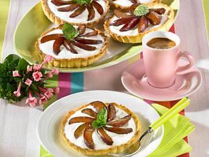 Pflaumen-Torteletts mit Quarkcreme (Diabetiker) Rezept