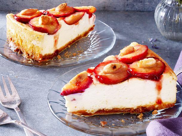 Pflaumen-Vanille-Cheesecake Rezept