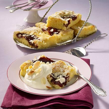 pflaumenmus pudding kuchen vom blech rezept chefkoch rezepte auf kochen backen. Black Bedroom Furniture Sets. Home Design Ideas