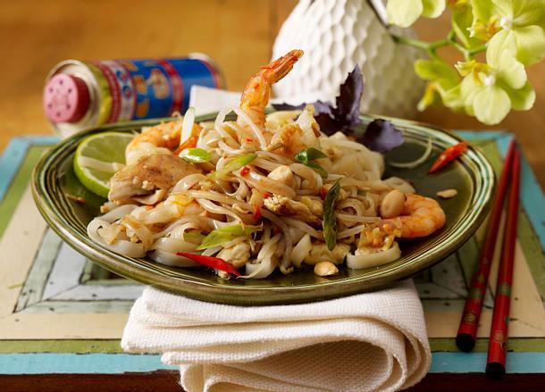 Phat Thai (Gebratene Nudeln mit Garnelen) Rezept