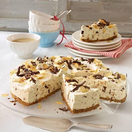 Philadelphia-Torte mit gerösteten Mandeln und Schokostückchen Rezept