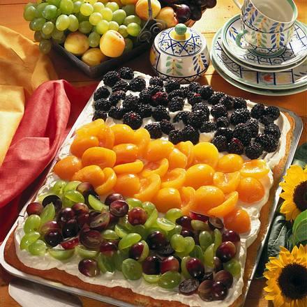 Philadelphiakuchen mit bunten Früchten Rezept