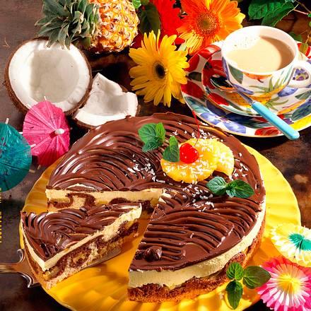 Piña-Colada-Wellen-Kuchen  Rezept