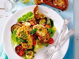 Piccata in Ei-Kräuter-Hülle mit Pizzaiola-Salat Rezept