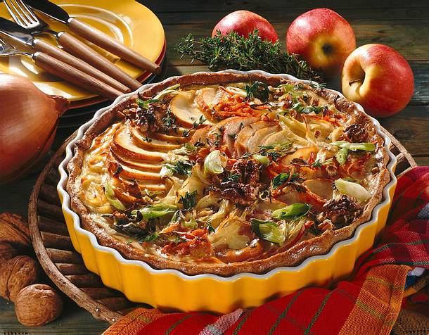Pikante Apfel-Zwiebel-Tarte Rezept