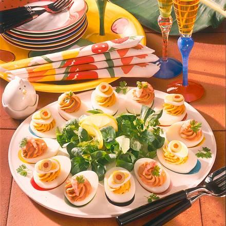 Pikante Eierplatte Rezept