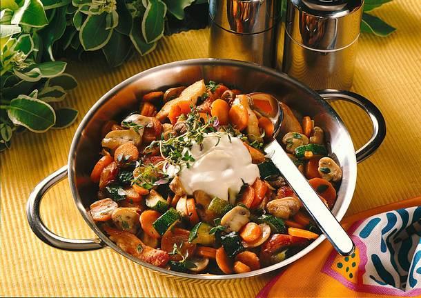 Pikante Gemüsepfanne Rezept