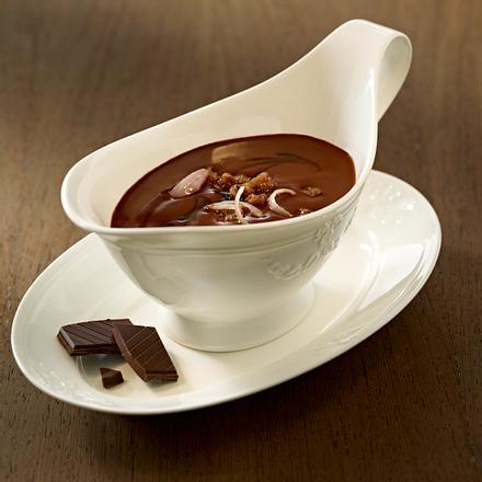Pikante Schokoladensoße (für kurzgebratene Fleisch-[Wild-]gerichte) Rezept