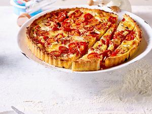 Pikante Tomaten-Quiche Rezept