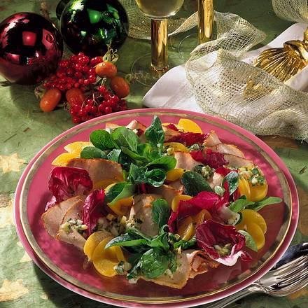 Pikanter Fleisch-Salat  Rezept