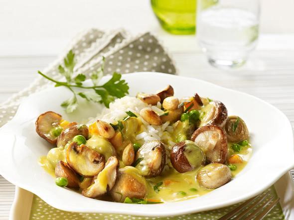 Pilz-Curry mit Mandeln Rezept