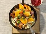 Pilz-Kloßpfanne mit Schnittlauchrahm Rezept