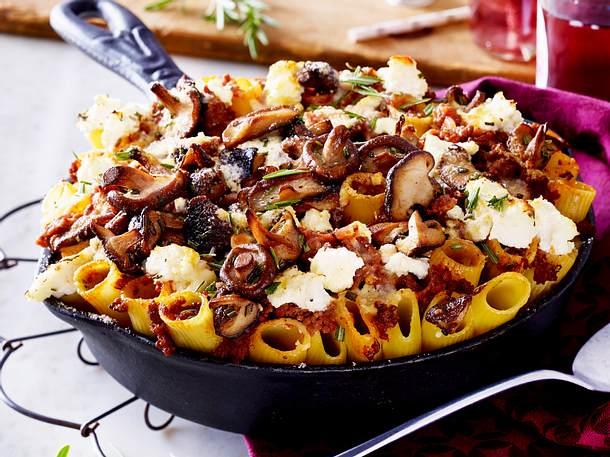 Pilz-Pasta mit Lammhack Rezept