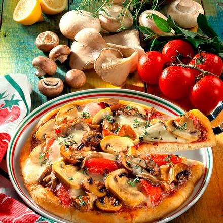 Pilz-Pizza Rezept