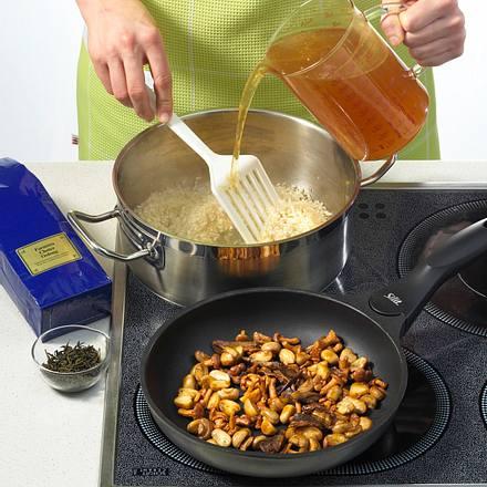 Pilz-Risotto (Kochen mit Tee) Rezept